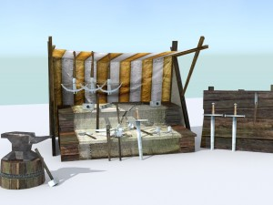 Medieval Weapons Stall