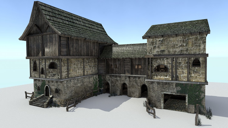 Medieval City Storehouse 3D Model in Buildings 3DExport