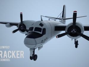 Lowpoly Grumman S-2 Tracker