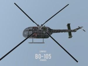 Lowpoly MBB BO-105