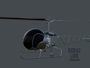 Lowpoly Bell H-13 Sioux