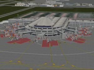 Lowpoly International Antalya Airport
