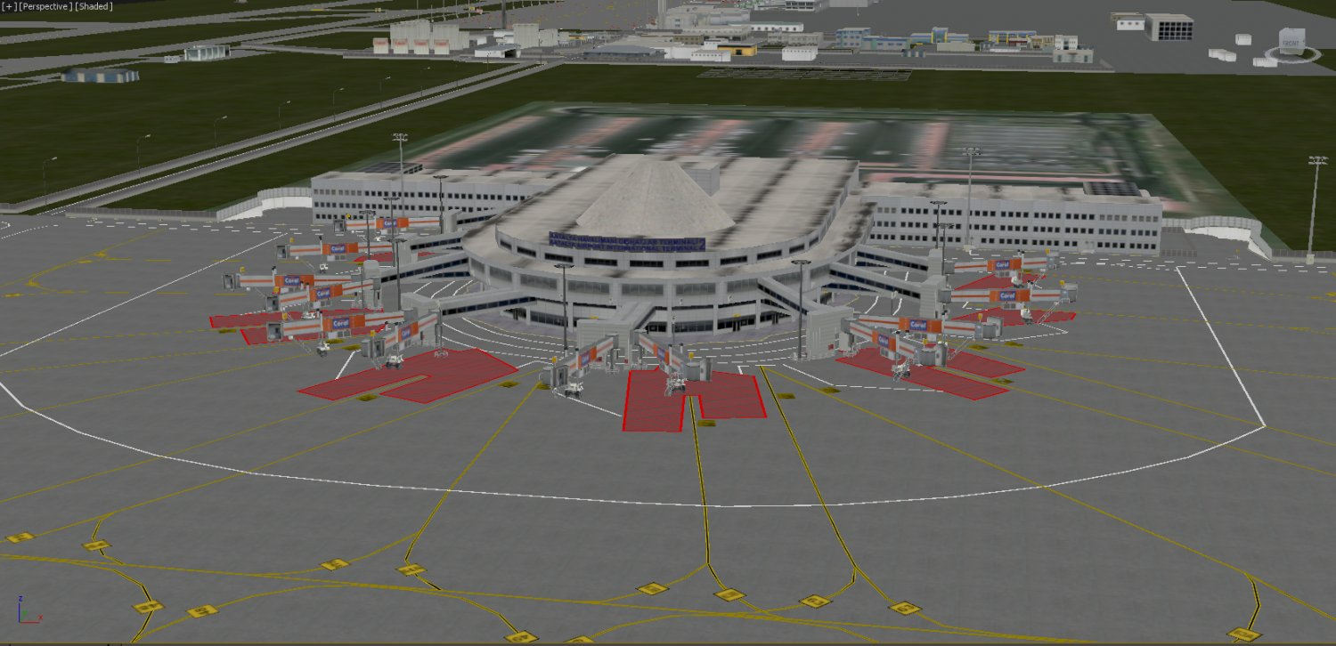 Lowpoly International Antalya Airport 3D Model in Buildings 3DExport