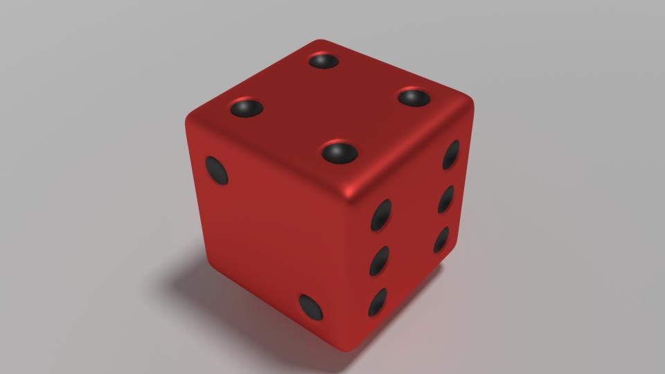 dice free 3d model in board games 3dexport