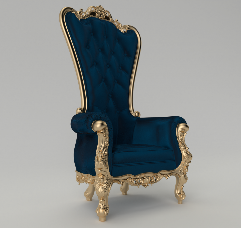 King chair 3D Model in Chair 3DExport