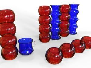 A set of glassware