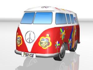 Toy car Hippie-Bus