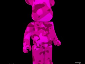 Pink Camouflage BearBrick