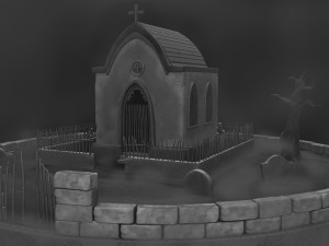 Mausoleum set and textures