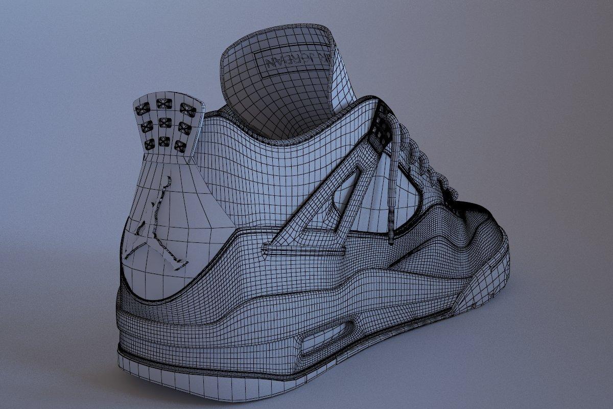 Air Jordan 4 Bred 3D Model in Clothing 3DExport