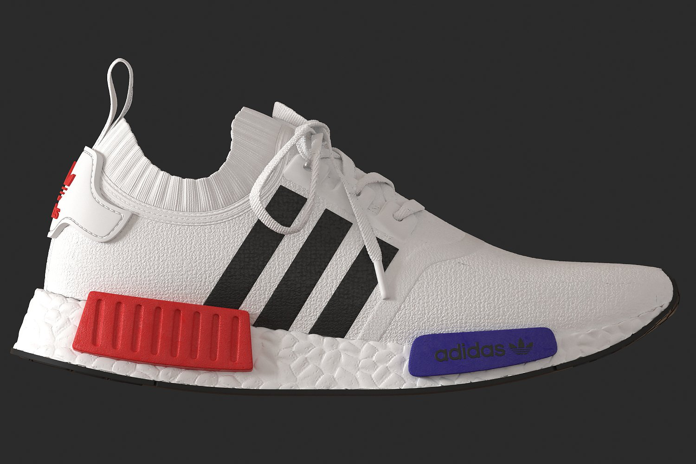 adidas Originals NMD_R1 Sneaker low talc/offwhite/white Zalando