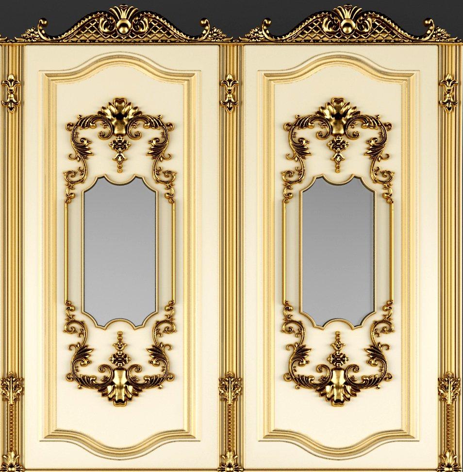 Baroque Boiserie Panel 3D Model in Decoration 3DExport
