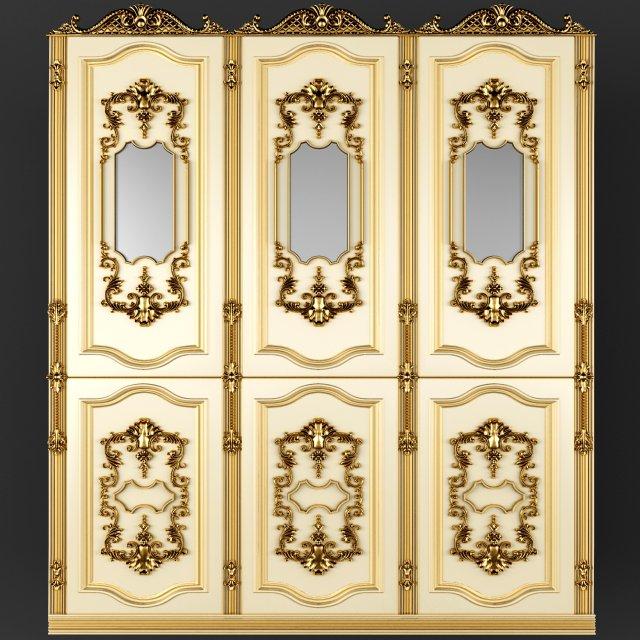 Baroque Boiserie Panel 3D Model