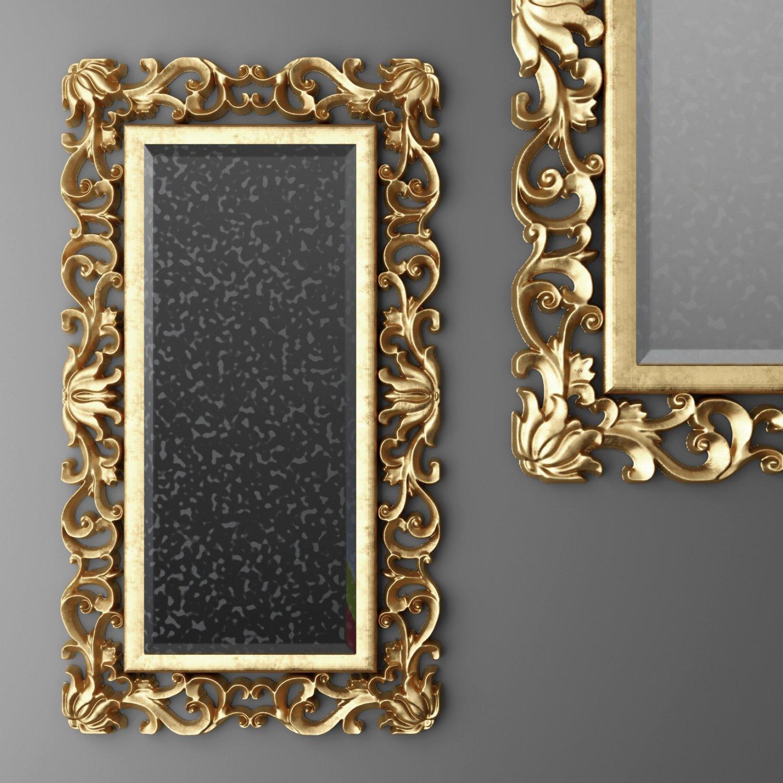 Baroque frame mirror 3D Model in Household Items 3DExport