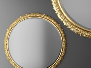 oval mirror frame. Baroque Frame Round Mirror 3D Model Oval