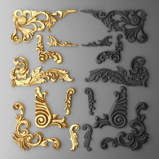 Boiserie molding 3D Model