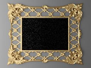 Baroque frame mirror