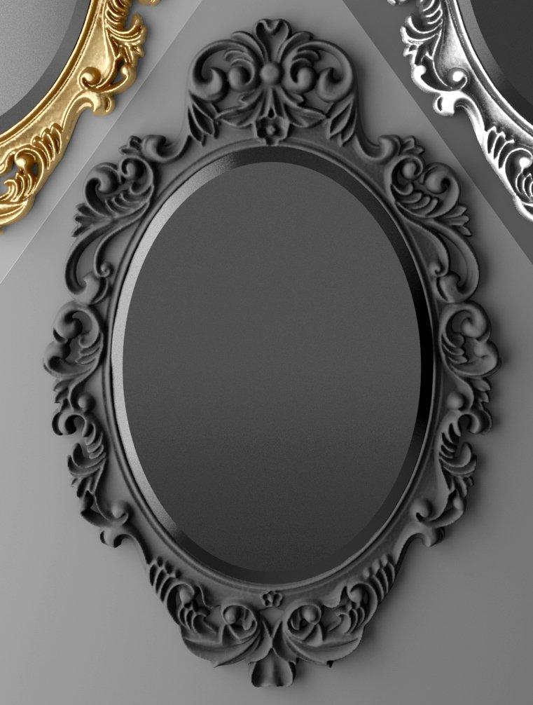 Baroque oval frame 3D Model in Household Items 3DExport