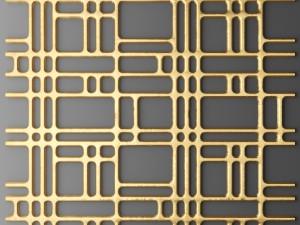 Panel lattice grille