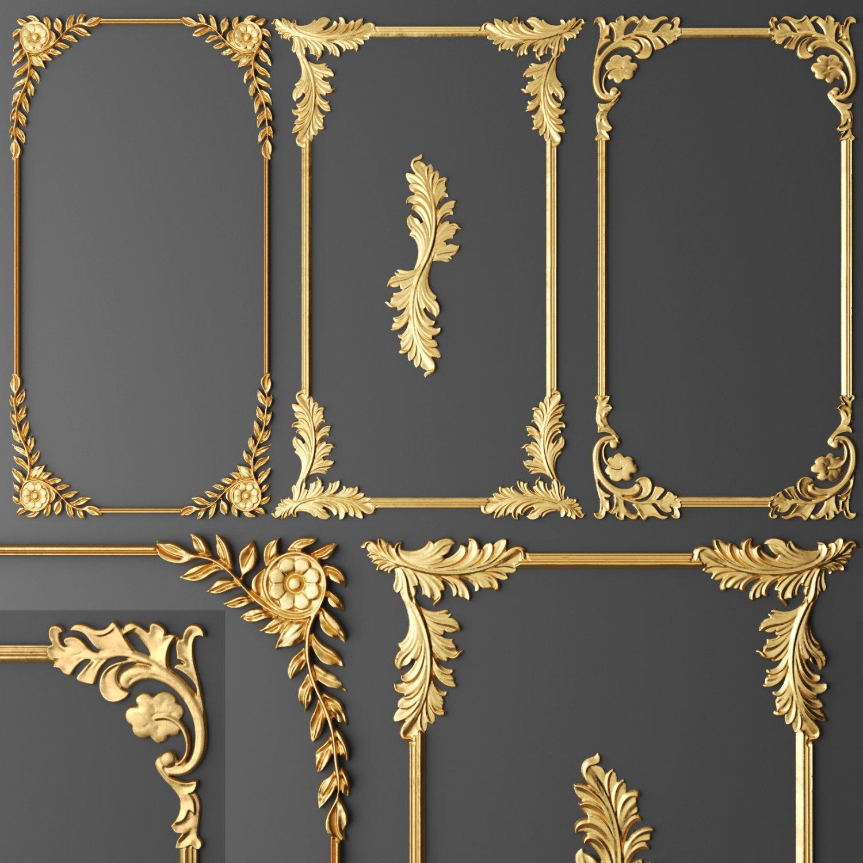 Frame Cartouches SET 3D 3D Model in Decoration 3DExport