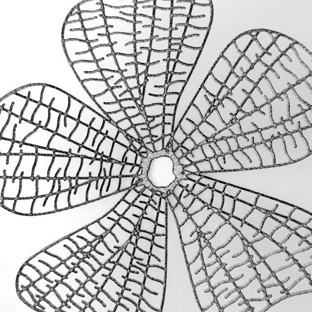 Wall Decor Flower Futurism Panel 3d Model In Decoration 3dexport