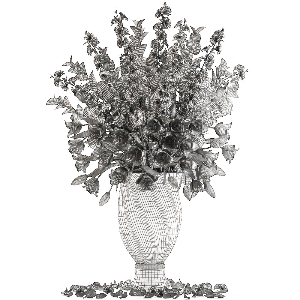 Collection of bouquets of spring flowers 3D Model in Flowers 3DExport