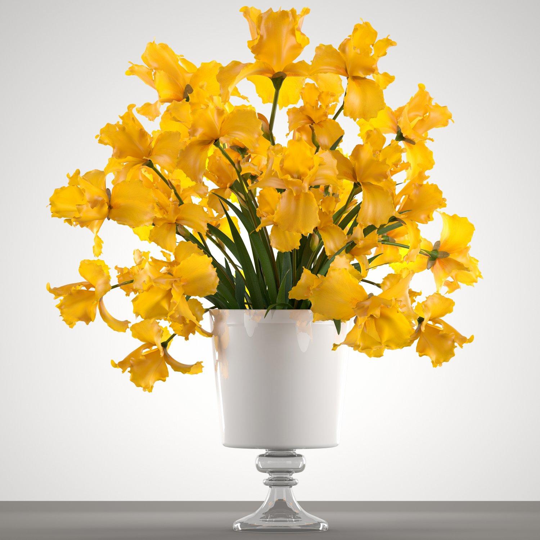 Bouquet Of Yellow Flowers 3d Model In Flowers 3dexport