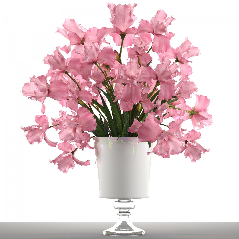 bouquet of pink flowers 3d model in flowers 3dexport