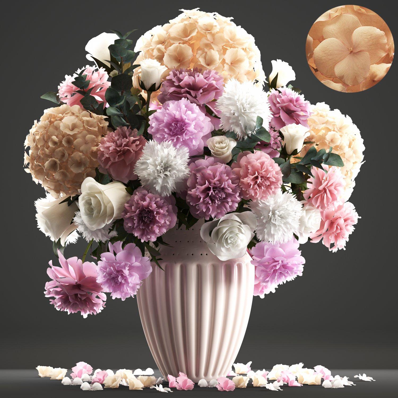 Fiori 3dm.Bouquet Of Spring Flowers Modello 3d In Fiori 3dexport