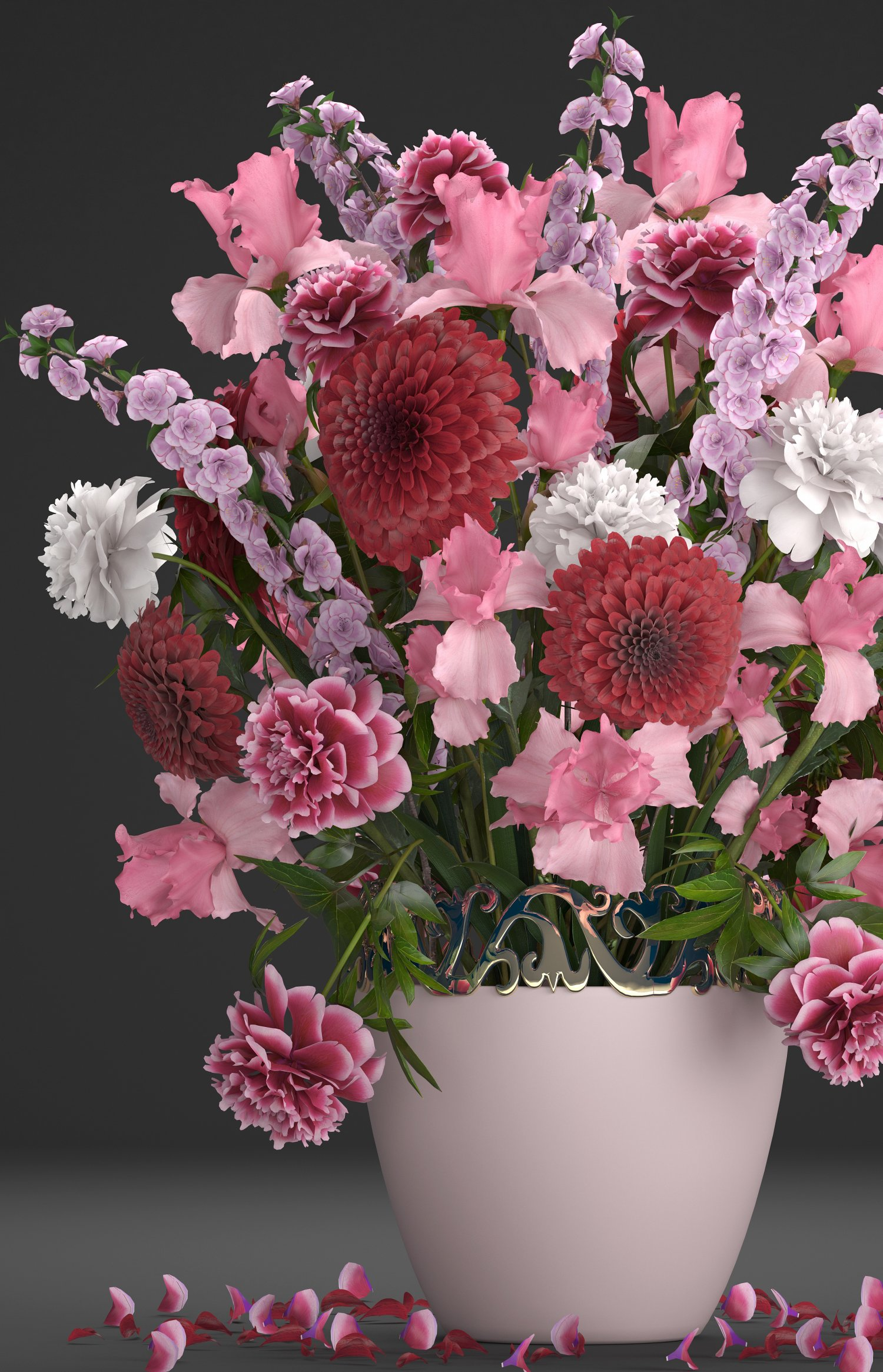 Bouquet of flowers 3d model in flowers 3dexport bouquet of flowers 3d model izmirmasajfo