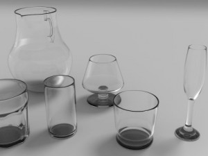 Glasses cups and jugs Collection Nb1