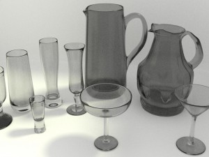 Glasses cups and jugs Collection Nb2