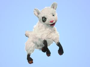 High Poly Cute Cartoon Rigged Sheep
