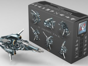 10 Drone Pack - Cybertech