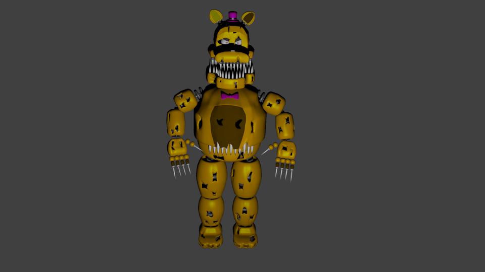 Nightmare Fredbear 3D Model in Robot 3DExport