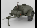 Military water-fuel cistern trailer