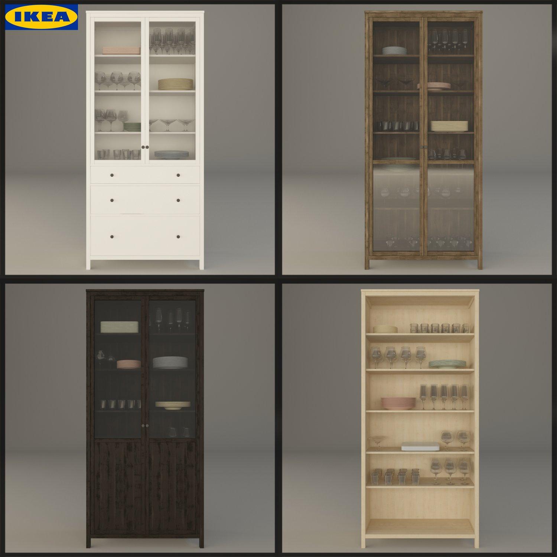 Ikea Hemnes Kostenlose 3D-Modell in Küche 3DExport