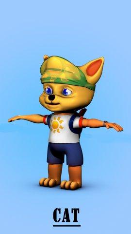 Cat3d model 3D Model