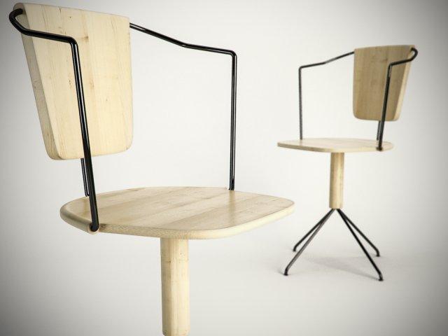 Uncino chair 3D Model