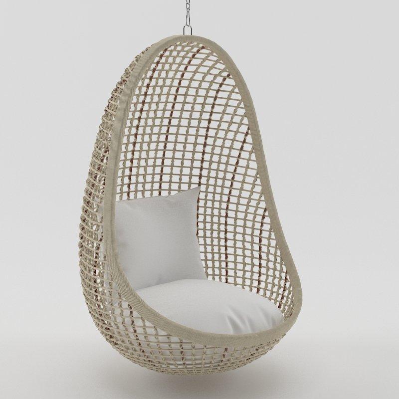 & Kai Pod Hanging Chair 3D Model in Chair 3DExport