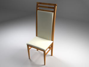 Wooden chair with leather seat