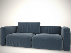 Sofa blue with pillow