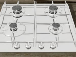 Cooktop gas 4-burner recessed