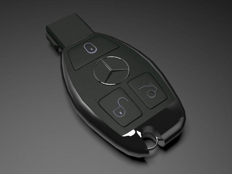 Mercedes Benz Key 3d Model In Tools 3dexport