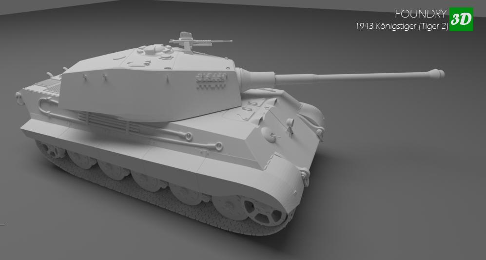 1943 Konigstiger Tiger 2 tank 3D Model in Tank 3DExport