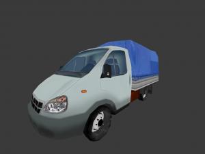 GAZ3302 Lowpoly model