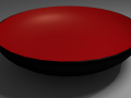 Black Bowl with Red Inside