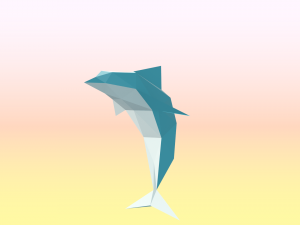 Dolphin low poly