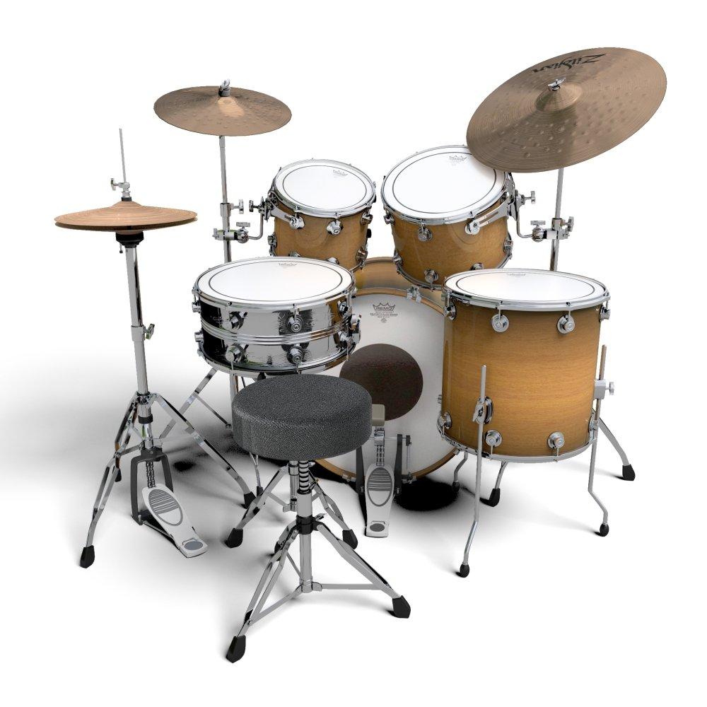 Drum Kit 3d Model In Percussion 3dexport