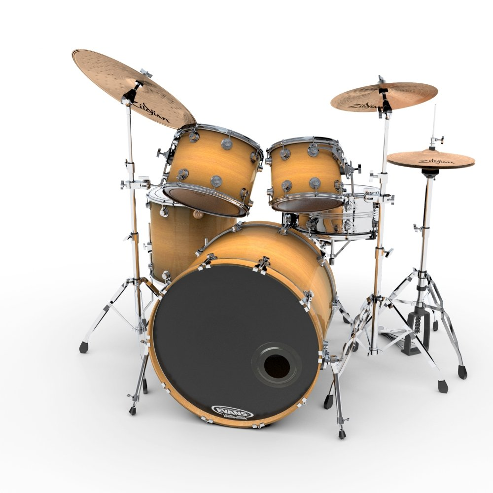 Drum kit 3D Model in Percussion 3DExport